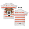 Bulldog With Tie Baby Toddler ALL-OVER PRINT Baby T-shirt