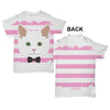White Cat With Bow Tie Baby Toddler ALL-OVER PRINT Baby T-shirt