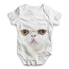 Fluffy White Kitten Baby Unisex ALL-OVER PRINT Baby Grow Bodysuit