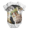 Three Cats Moon Baby Unisex ALL-OVER PRINT Baby Grow Bodysuit