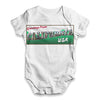 Greetings From California USA Baby Unisex ALL-OVER PRINT Baby Grow Bodysuit