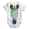Galaxy Zebra Head Baby Unisex ALL-OVER PRINT Baby Grow Bodysuit