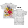 Book Print Bird And Flowers Baby Toddler ALL-OVER PRINT Baby T-shirt