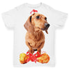 Santa Hat Doxie Dachshund Baby Toddler ALL-OVER PRINT Baby T-shirt