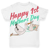 Happy 1st Mother's Day Stork Baby Toddler ALL-OVER PRINT Baby T-shirt