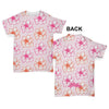 Pink Flower Pattern Baby Toddler ALL-OVER PRINT Baby T-shirt