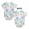 Diamonds And Gems Pattern Baby Unisex ALL-OVER PRINT Baby Grow Bodysuit