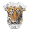 Fierce Tiger Face Baby Unisex ALL-OVER PRINT Baby Grow Bodysuit