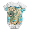 Underwater Dog Baby Unisex ALL-OVER PRINT Baby Grow Bodysuit