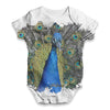 Vibrant Peacock Baby Unisex ALL-OVER PRINT Baby Grow Bodysuit