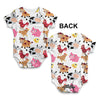 Farm Yard Animal Baby Unisex ALL-OVER PRINT Baby Grow Bodysuit