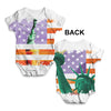 Statue of Liberty American Flag Baby Unisex ALL-OVER PRINT Baby Grow Bodysuit
