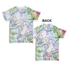 Rainbow Flower Outlines Baby Toddler ALL-OVER PRINT Baby T-shirt