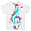 Treble Clef Paint Splats Baby Toddler ALL-OVER PRINT Baby T-shirt