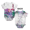 Hong Kong Skyline Ink Splats Baby Unisex ALL-OVER PRINT Baby Grow Bodysuit
