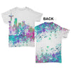 Seattle Skyline Ink Splats Baby Toddler ALL-OVER PRINT Baby T-shirt