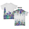 Chicago Skyline Ink Splats Baby Toddler ALL-OVER PRINT Baby T-shirt