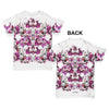 Watercolour Pink Flowers Pattern Baby Toddler ALL-OVER PRINT Baby T-shirt