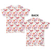 Faded Floral Watercolor Pattern Baby Toddler ALL-OVER PRINT Baby T-shirt