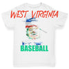 West Virginia Baseball Splatter Baby Toddler ALL-OVER PRINT Baby T-shirt