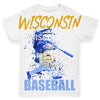 Wisconsin Baseball Splatter Baby Toddler ALL-OVER PRINT Baby T-shirt