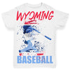 Wyoming Baseball Splatter Baby Toddler ALL-OVER PRINT Baby T-shirt