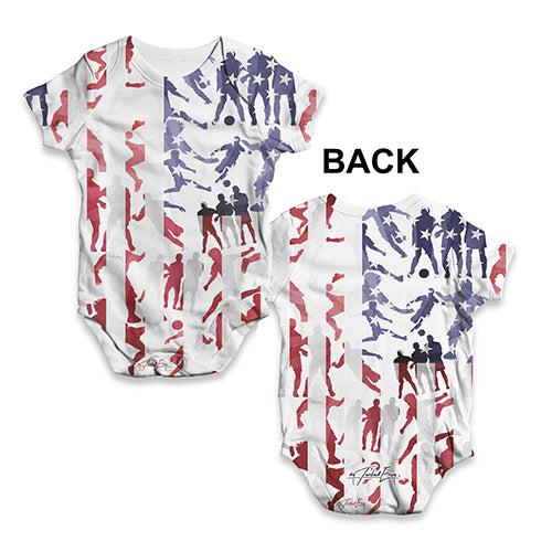ab305b271a5 Funny Infant Baby Bodysuit USA Football Silhouette Baby Unisex ALL ...
