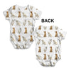Golden Retrievers Pattern Baby Unisex ALL-OVER PRINT Baby Grow Bodysuit