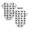 Dachshunds Santa Hats Pattern Baby Unisex ALL-OVER PRINT Baby Grow Bodysuit