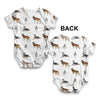 Siberian Huskies Pattern Baby Unisex ALL-OVER PRINT Baby Grow Bodysuit
