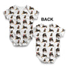 Rottweilers Santa Hats Pattern Baby Unisex ALL-OVER PRINT Baby Grow Bodysuit