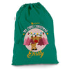 Personalised My First Christmas Reindeer Green Christmas Santa Sack Gift Bag