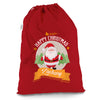 Personalised Merry Christmas From Santa Red Christmas Present Santa Sack Mail Post Bag