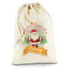 Personalised Merry Christmas From Santa Natural Luxury Christmas Santa Sack