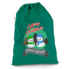 Personalised Snowman Merry Christmas Green Christmas Santa Sack Mail Post Bag