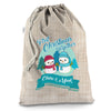 Personalised My First Snowman Christmas Hessian Luxury Christmas Santa Sack