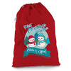 Personalised My First Snowman Christmas Red Christmas Santa Sack Mail Post Bag