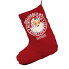 Delivery by Vintage Santa Personalised Red Christmas Stocking Gift Bag