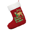 Fa La Llama Christmas Personalised Red Christmas Stocking With White Fur Trim