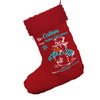 Personalised Christmas Snowman Jumbo Red Deluxe Christmas Stocking With Red Fur Trim