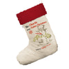 Personalised Christmas Snowman White Christmas Stockings Socks With Red Fur Trim