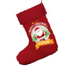 Personalised Merry Christmas From Santa Jumbo Red Deluxe Christmas Stocking With Red Fur Trim
