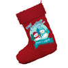 Personalised My First Snowman Christmas Jumbo Red Santa Claus Christmas Stockings With Red Fur Trim