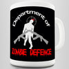 Department Of Zombie Defence Novelty Mug
