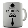 Happy Fathers Day Top Hat And Tie Novelty Mug