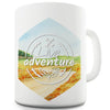 Live Adventure Landscape Watercolour Hexagon Funny Mug