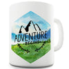 Adventure Begins Mountains Landscape Watercolour Hexagon Novelty Mug