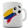 Colombia Football Flag Paint Splat Ceramic Mug