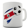 Costa Rica Football Flag Paint Splat Funny Mug