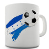 Honduras Football Flag Paint Splat Funny Mug